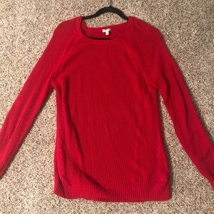 Red sweater from Talbots